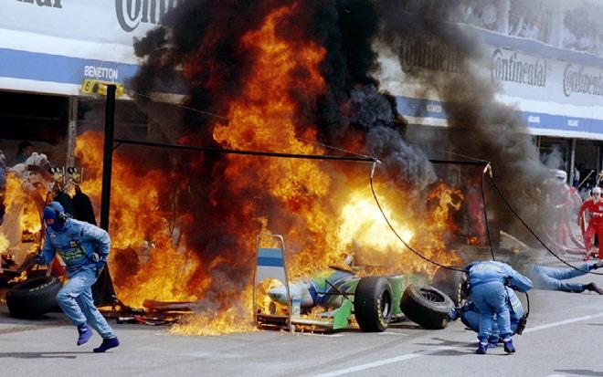 Пожар Йоса Ферстаппена в Германии