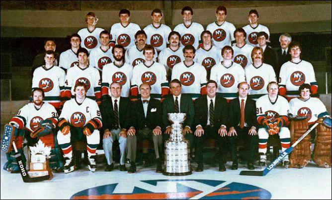 """Обладатели Кубка Стэнли 1983 года – """"Нью-Йорк Айлендерс""""."""