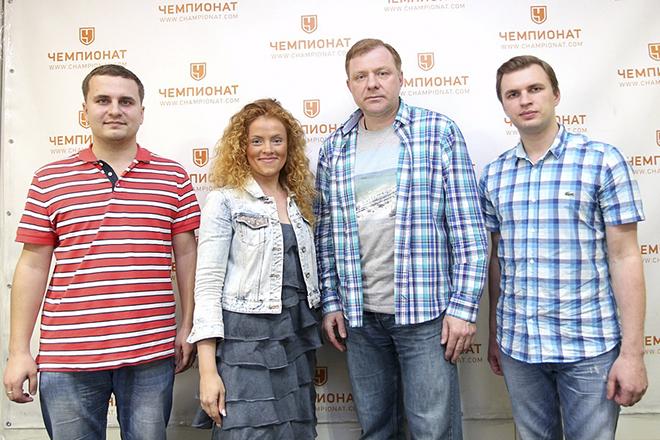 Алексей Жамнов и журналисты «Чемпионата»