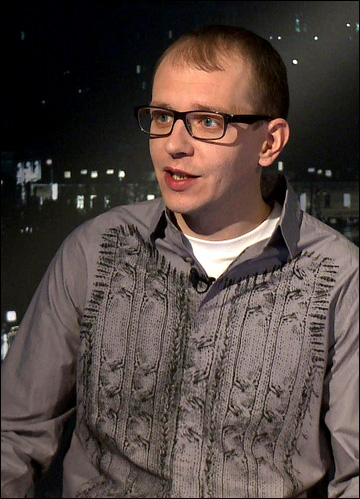 """Ведущий """"Трибуны"""" на КХЛ ТВ Роман Чернявский"""