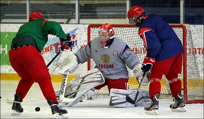 Новогорск. Тренировка юниорской сборной России