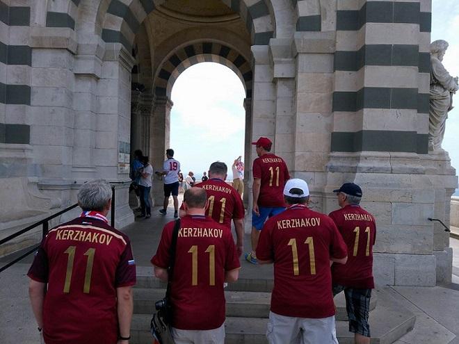 Болельщики сборной России в Марселе