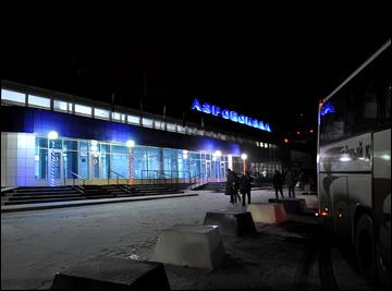 Ночь. Новокузнецк. Аэропорт