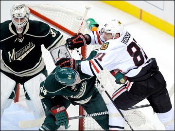 """5 мая 2013 года. Сент-Пол. Плей-офф НХЛ. 1/8 финала. Матч № 3. """"Миннесота"""" — """"Чикаго"""" — 3:2 (ОТ)"""