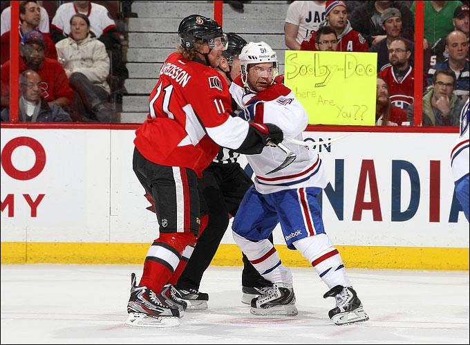 "30 января 2013 года. Оттава. Регулярный чемпионат НХЛ. ""Оттава Сетанорс"" — ""Монреаль Канадиенс"" — 3:0"