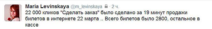 Твиттер Марии Левинской