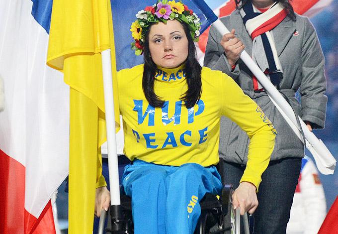 Людмила Павленко – знаменосец сборной Украины на закрытии Паралимпиады-2014