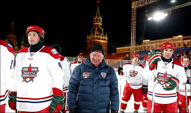Сергей Михалев на первом матче Всех Звезд КХЛ