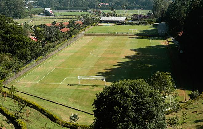 Вид на поле тренировочной базы сборной Колумбии