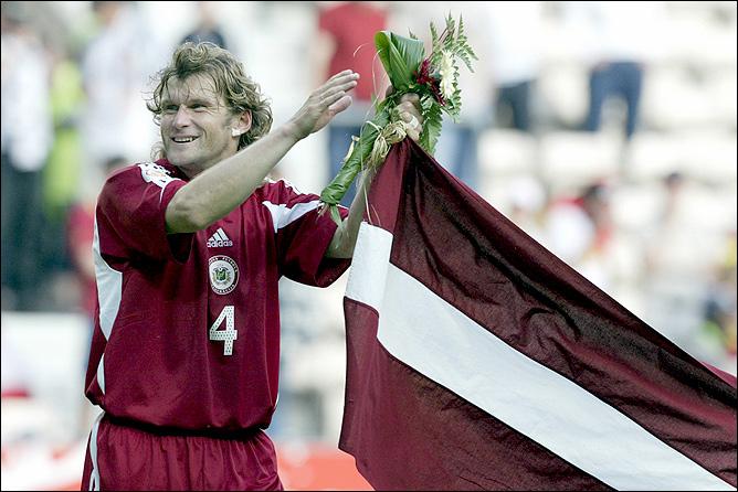 Михаил Землинский провёл 105 матчей за национальную команду Латвии
