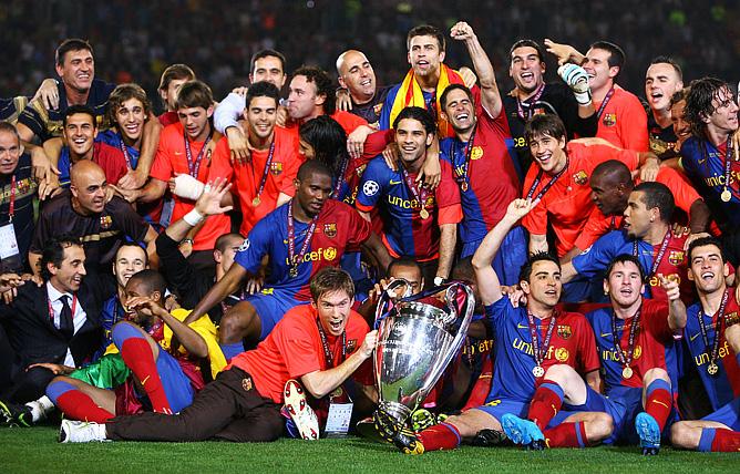 """Победитель Лиги чемпионов-2009 """"Барселона"""""""