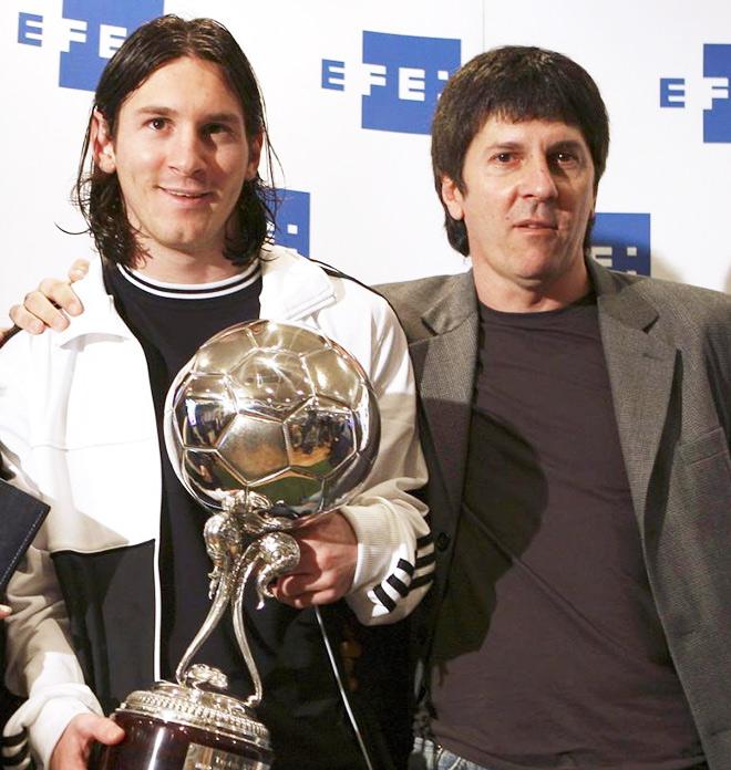 Лионель Месси со своим отцом Хорхе Орасио
