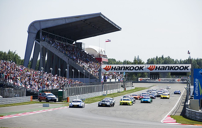Старт гонки DTM на Moscow Raceway