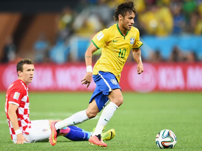 Неймар — автор первого гола Бразилии в ворота Хорватии на чемпионате мира