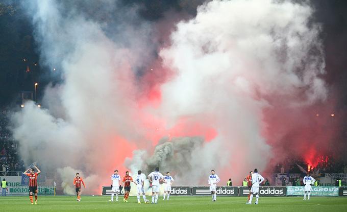 Дымовая завеса в Киеве