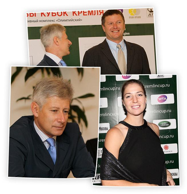 Алексей Селиваненко и Евгений Кафельников трудятся на благо турнира