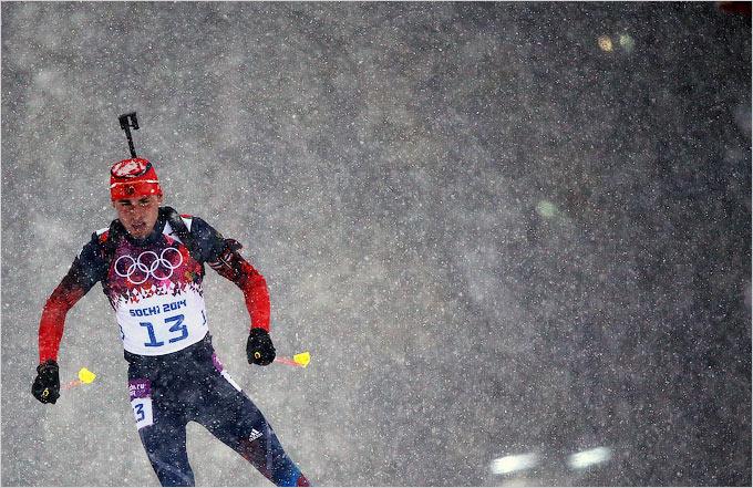 В биатлонном масс-старте россияне остались без медалей