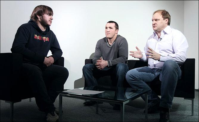 Константин Устьянцев, Денис Лебедев и Владимир Хрюнов.