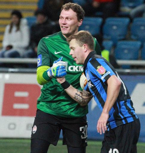 Андрей Пятов и Алексей Гай