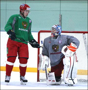 Владимир Тарасенко и Сергей Бобровский