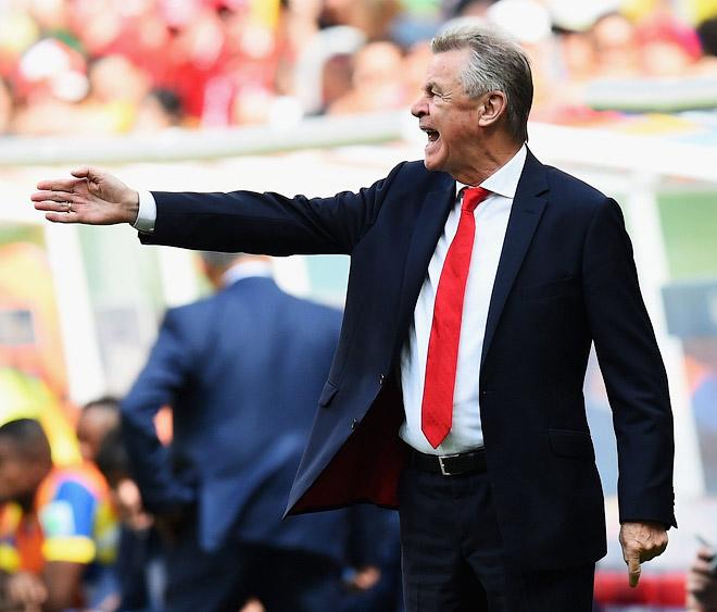 Главный тренер сборной Швейцарии Оттмар Хитцфельд