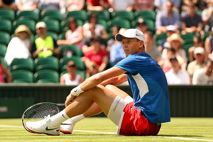 Самой серьёзной неожиданностью в мужском турнире стало поражение Томаша Бердыха
