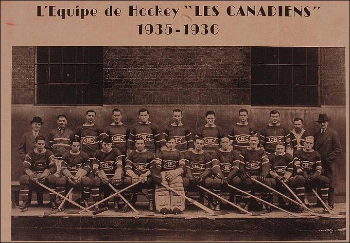 """""""Монреаль Канадиенс"""" образца сезона-1935/36"""