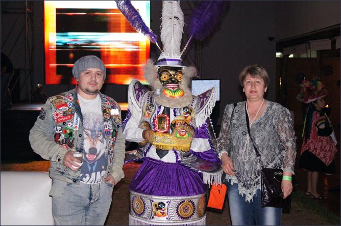 Андреас с мамой на покерном турнире в Перу