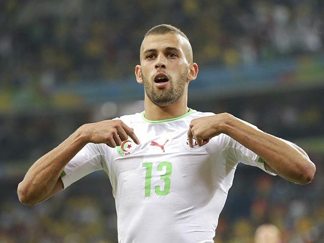 Ислам Слимани — автор гола сборной Алжира