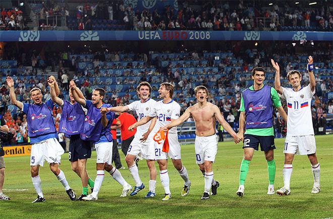 В 2008-м году сборная России играла в полуфинале Евро