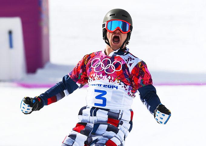 Вик Уайлд во время соревнований на Олимпийских играх в Сочи