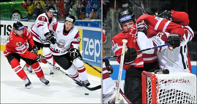 10.05.2010. ЧМ-2010. Канада - Латвия - 6:1. Фото 02.