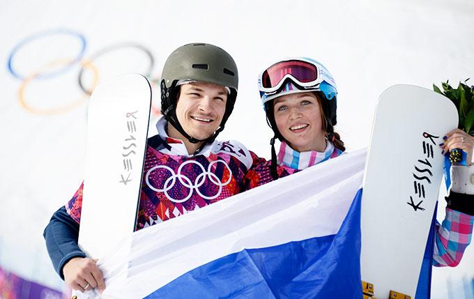 Алёна Заварзина и Вик Уайлд на Олимпийских играх в Сочи