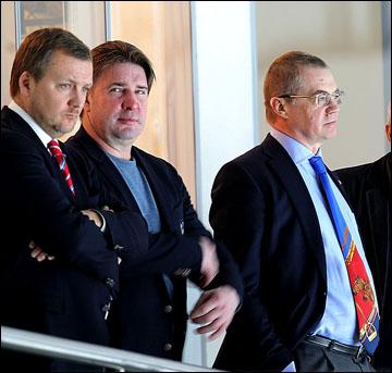 Александр Медведев на трибуне