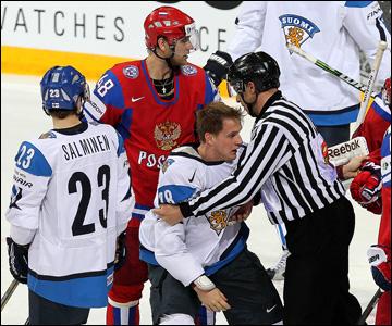 10 мая 2013 года. Хельсинки. Чемпионат мира. Групповой турнир. Россия — Финляндия — 2:3
