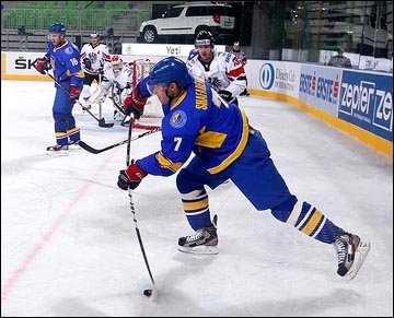 15 апреля 2012 года. Любляна. Чемпионат мира, дивизион I. Украина — Австрия — 4:5. Олег Шафаренко