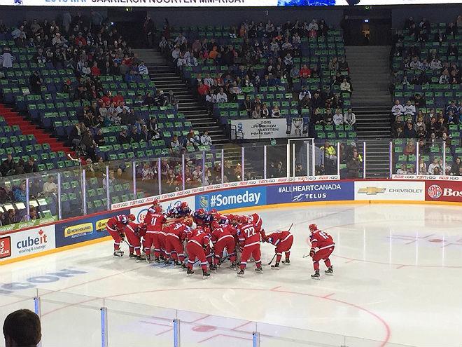 Сборная России перед матчем с Данией