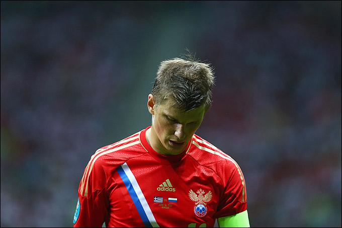 Андрей Аршавин после поражения от Греции и вылета с чемпионата Европы