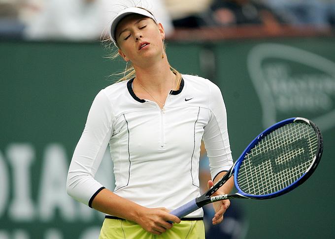 В матче с Линдсей Дэвенпорт россиянка Мария Шарапова допустила 42 невынужденные ошибки