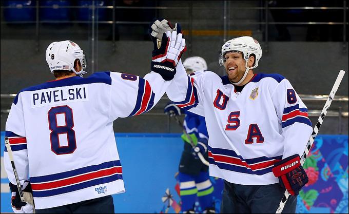 16 февраля 2014 года. Сочи. XXII зимние Олимпийские игры. Хоккей. Групповой этап. Словения — США — 1:5