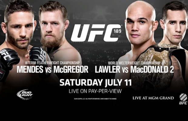 Постер к турниру UFC 189