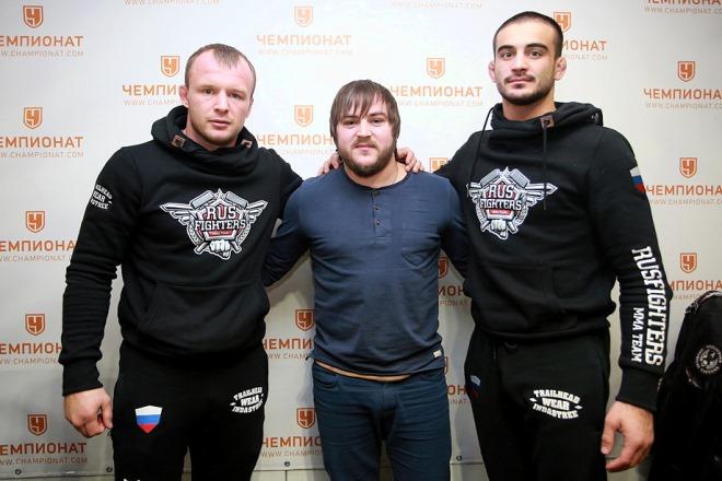 Александр Шлеменко, Константин Устьянцев и Андрей Корешков