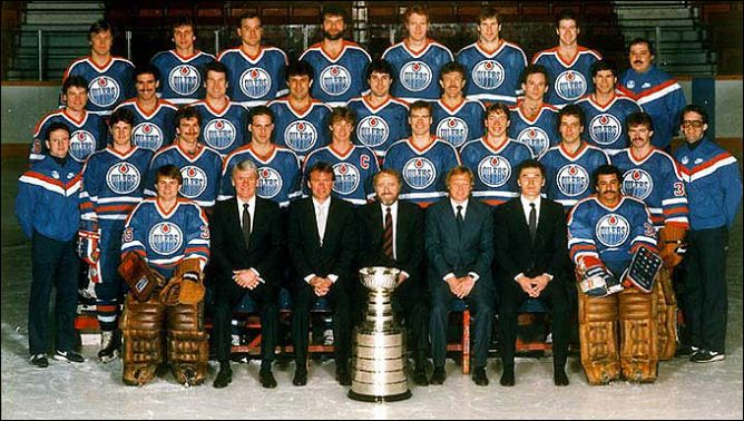 "Обладатели Кубка Стэнли 1984 года - ""Эдмонтон Ойлерз""."