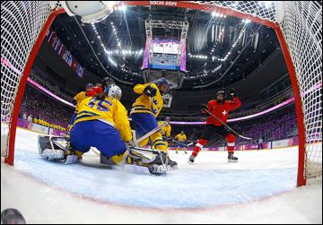 20 февраля 2014 года. Сочи. XXII зимние Олимпийские игры. Хоккей. Женшины. Матч за 3-е место. Швейцария — Швеция — 4:3