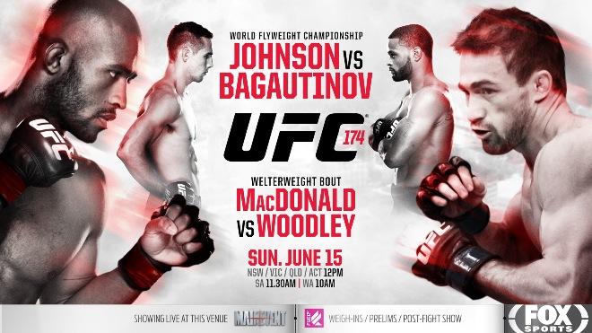 Постер к турниру UFC 174