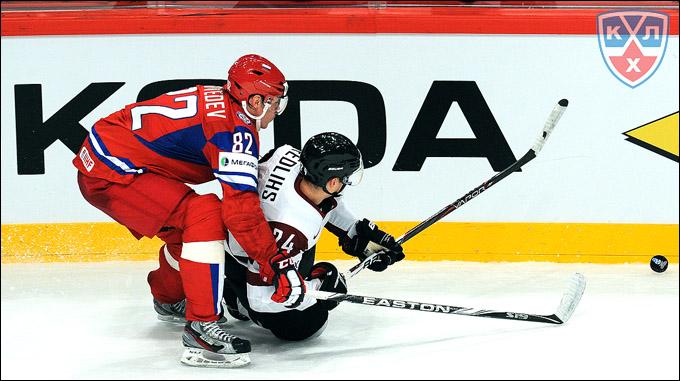 Евгений Медведев против сборной Латвии