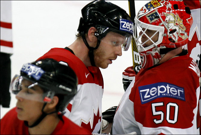 12.05.2010. ЧМ-2010. Канада - Швейцария - 1:4. Фото 02.