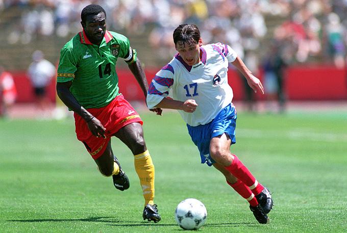 Илья Цымбаларь в матче чемпионата мира с Камеруном. 28 июня 1994 года