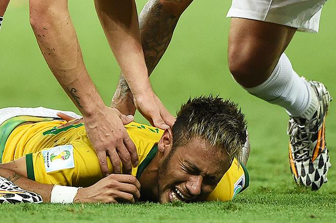 На ЧМ-2014 Неймар получил серьёзную травму в четвертьфинале