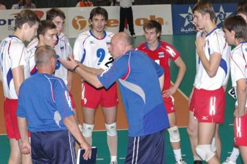 Подопечные Вячеслава Зайцева в 2007 году во время финального матча со сборной Бразилии